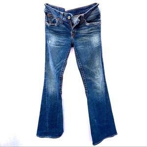 True Religion jeans 31 flare bell wide leg bottom